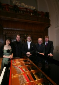 Dominic Piers Smith Yamaha Pianist Winner 2008 with Pianist judges